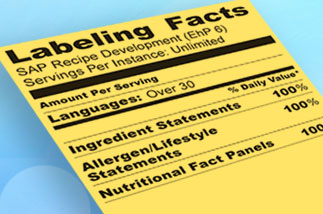 sap product labeling